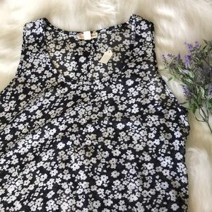 Zenana Outfitters sheer floral top NWT